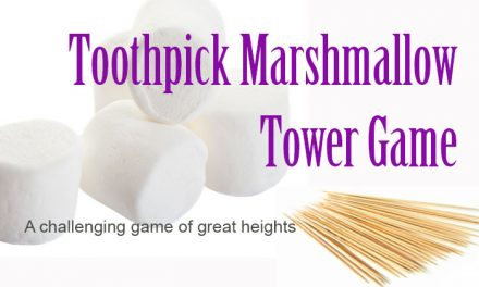 Toothpick Marshmallow Tower Game