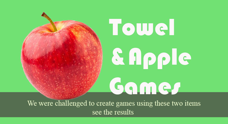 Towel and Apple Party Games