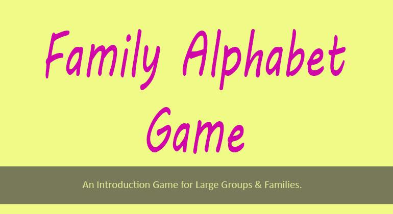 Family Alphabet Game