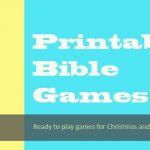 Printable Bible Games
