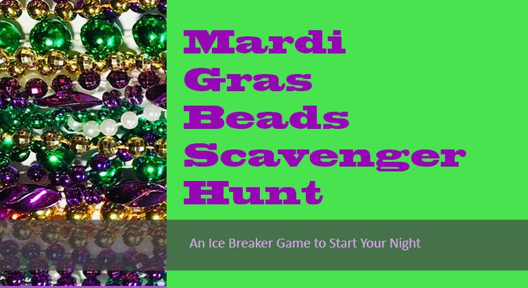 Mardi Gras Beads Scavenger Hunt