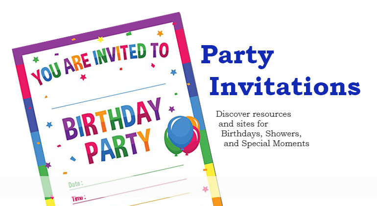 Party Invitations Birthday Party Invitations Shower Invites