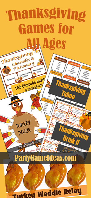 Thanksgiving Games for Kids and Family