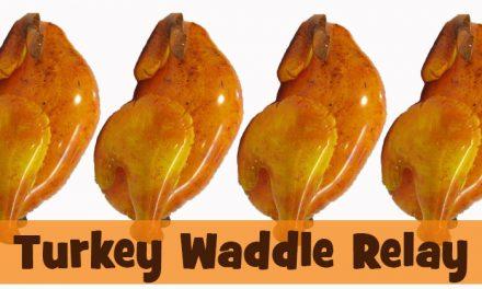 Turkey Waddle Relay Race