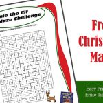 Printable Christmas Maze Ernie the Elf