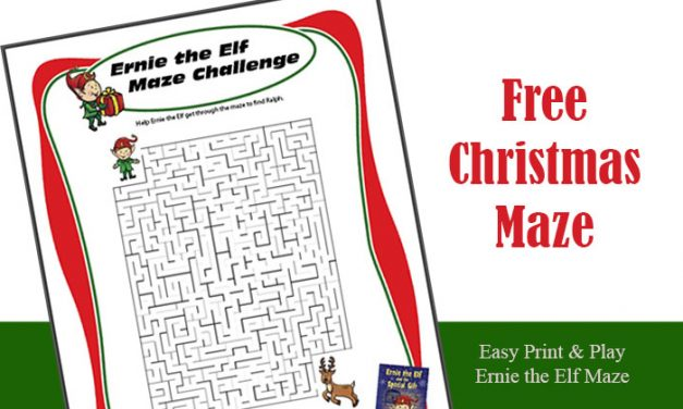 Free Printable Christmas Maze Ernie the Elf