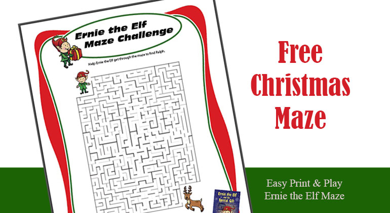 picture regarding Christmas Maze Printable called Printable Xmas Maze for Small children