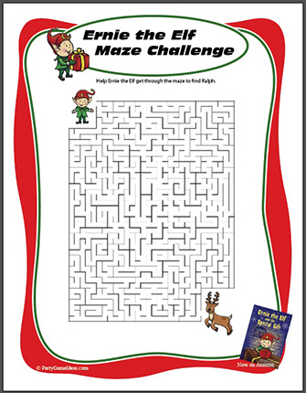 Free Printable Christmas Maze Activity