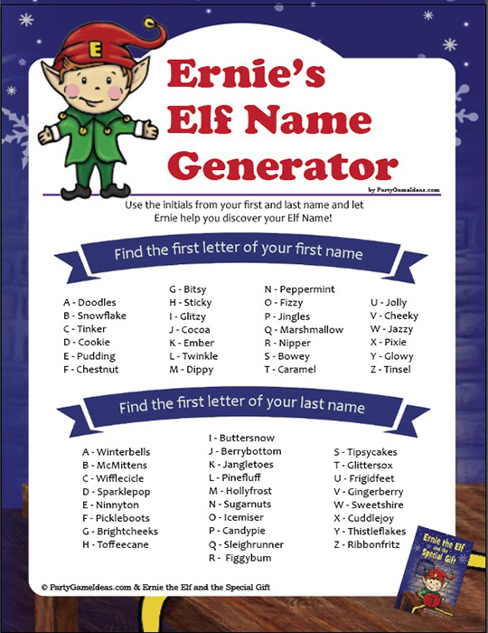 Elf Name Generator - What's Your Elf Name