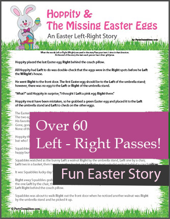 Easter Left Right Games - Hoppity and the Missing Easter Eggs Story