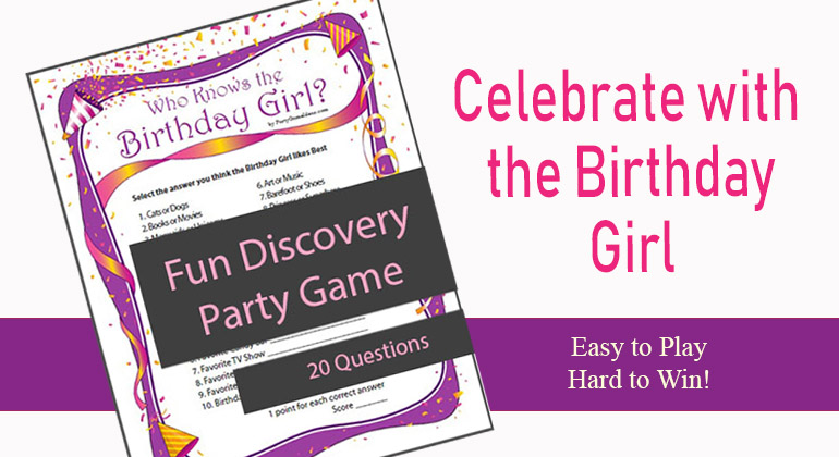 graphic relating to Girl Printable known as Who Is familiar with the Birthday Woman - Printable Occasion Sport