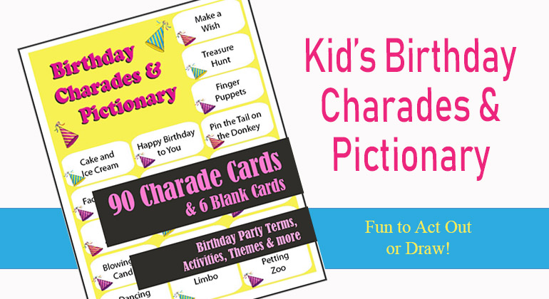 90 Birthday Charades and Pictionary Ideas