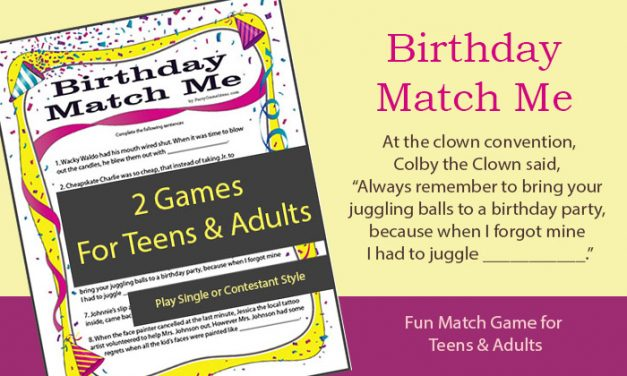 Birthday Match Me Game