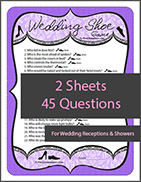 Printable Wedding Shoe Questions