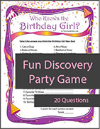Who Knows the Birthday Girl Game