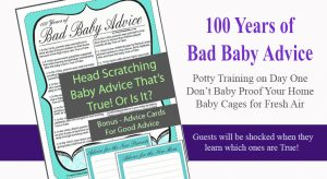 Bad Baby advice Trivia - Baby Shower Games - Baby Advice Cards