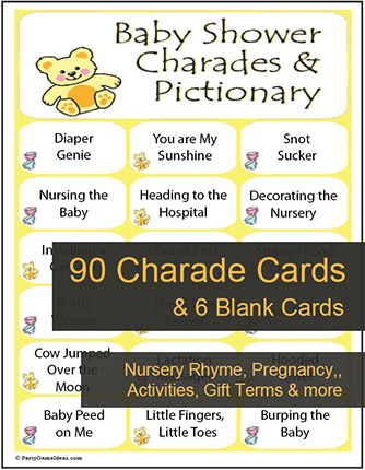 Baby Shower Charades Game - Printable Charades