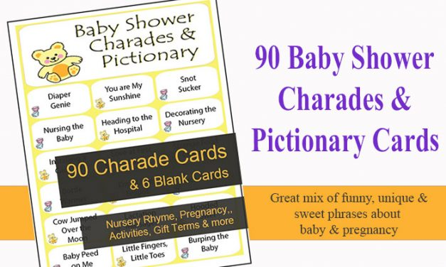 Baby Shower Charades and Pictionary