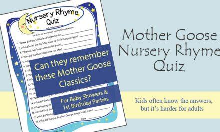 Baby Shower Nursery Rhyme Game
