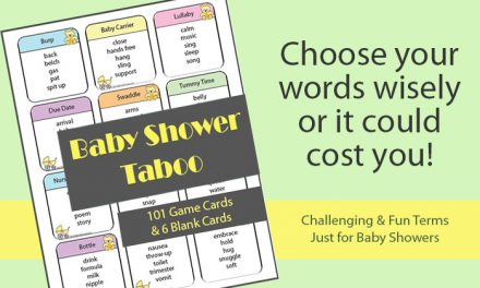 Baby Shower Taboo Cards