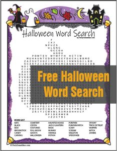 Free Halloween Word Search - Free Printable Game