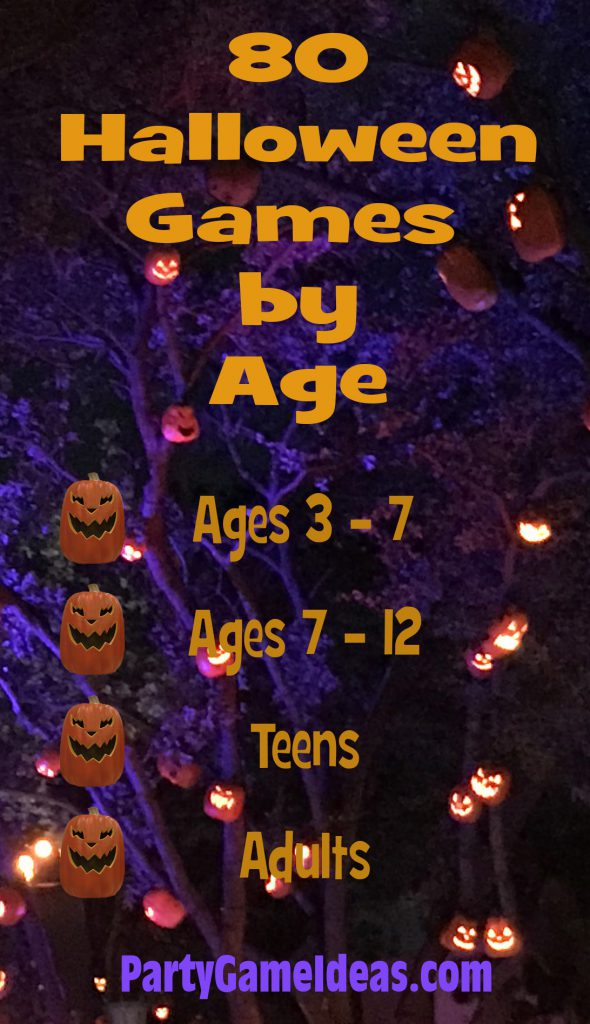 Halloween Games by Age Kids and Adults