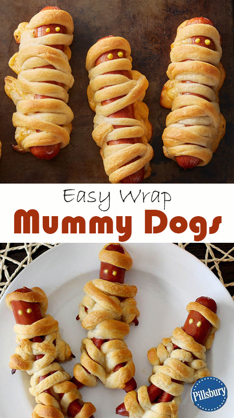 Halloween Mummy Dogs - Hotdog Snacks