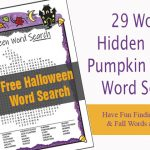 Free Halloween Word Search