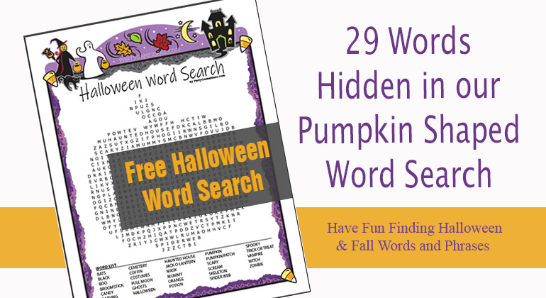 Free Halloween Word Search