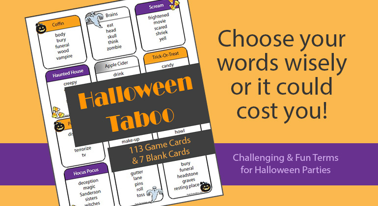 Halloween Taboo Game Cards