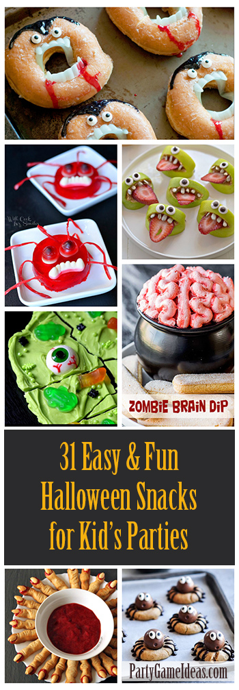 Kids Halloween Party Snacks - Easy and Fun Halloween Party Food