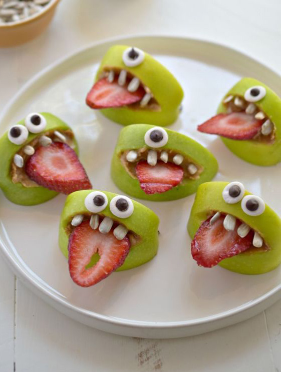 Silly Apple Monster Bites