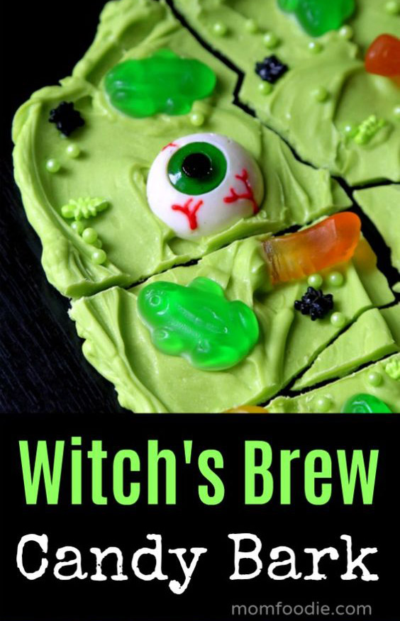 Witches Candy Bark Halloween Party Snack