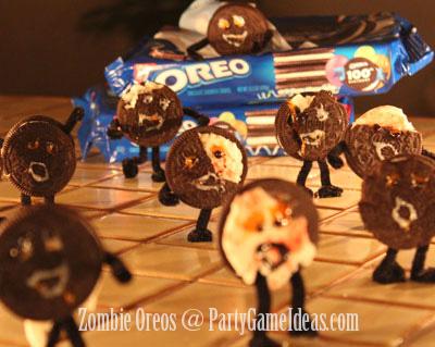 Zombie Oreos - Halloween Snacks