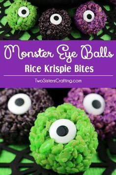 Rice Krispies Monster Eyeballs