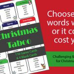 Christmas Taboo Game Cards