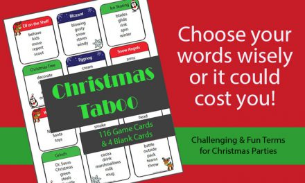 Christmas Taboo Game Cards