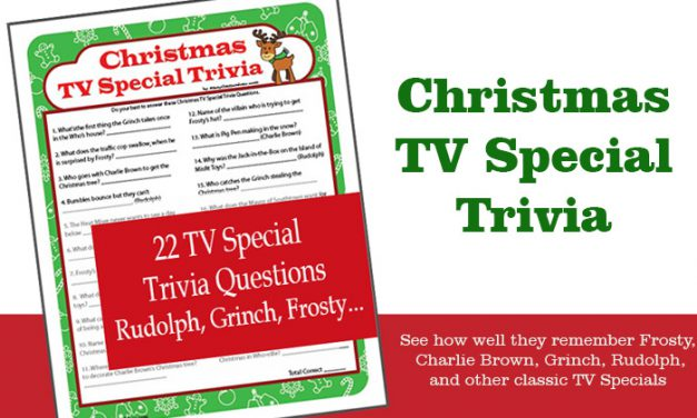 Christmas Cartoon Trivia Game