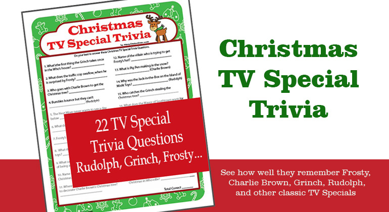 Christmas Cartoon Trivia Game