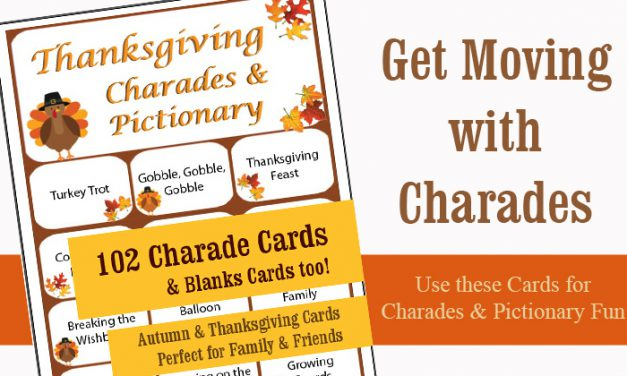Thanksgiving Charades 102 Game Cards
