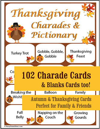102 Thanksgiving Charades Printable Cards