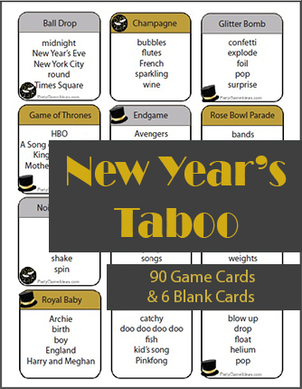 New Year's Taboo Game