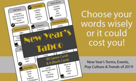 New Years Taboo Game