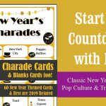 New Years Charades Party Game