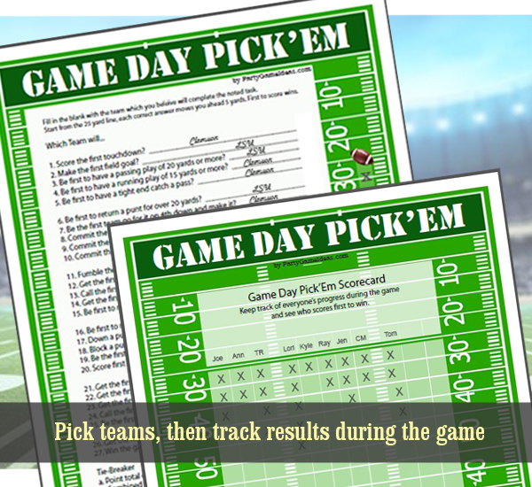 Super Bowl Party Game Activity During the Football Game