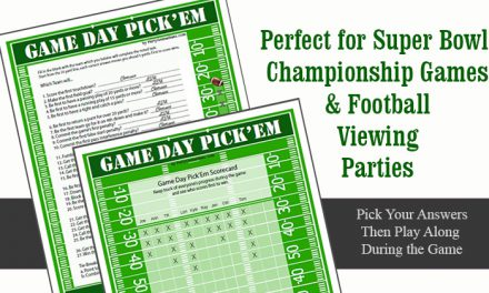 Football Party Game Day Pick Em