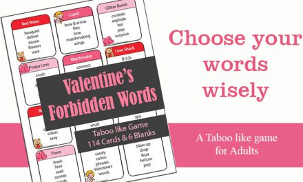 Valentines Taboo Like Game Forbidden Words