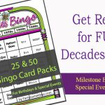 Decades Bingo Cards 1950s to 1990s