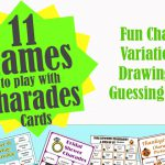 12 Charades and Games Using Charade Cards Games
