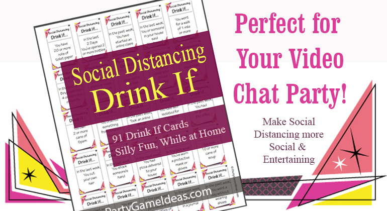 Social Distancing Drink If Game